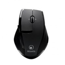 "MOUSE ATLANTIS ""SURFER 6600-G"" WIRELESS USB, ottico 5 tasti, bottone switch 12000/1600 dpi, Mini ricevitore ""nano size"" Nero"