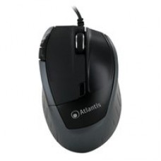 "MOUSE ATLANTIS ""SURFER 8600"" USB, ottico 5 tasti, bottone switch 1000/1600 dpi, Poggia pollice x maggior grip"