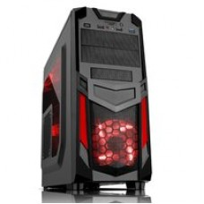 "CASE ITEK M.TOWER GAMING ""INVADER R03"", 1*USB3, 12cm Red fan, ODD/HDD kit, Trasp Wind, C. Reader - Audio Front, NO ALIM., BK"