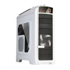 "CASE ITEK M.TOWER GAMING ""HARRIER"", USB3, 2x12cm BIANCO fan, Trasp Wind, ODD/HDD kit, Card reader - NO ALIM. Bianco"