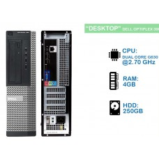 DELL OPTIPLEX 390  G640 2.80Ghz 4GB 250 GB DVD SFF W7 PRO